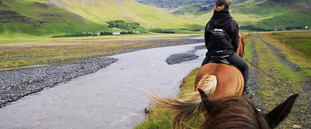 Privat ridetur på Island